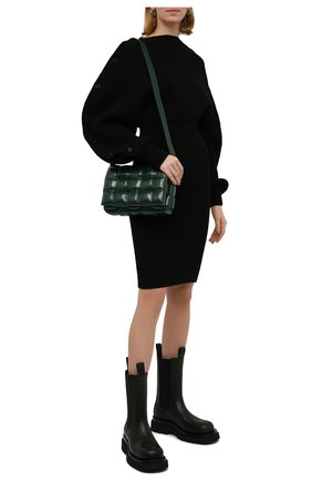 Женские кожаные ботинки bv lug BOTTEGA VENETA хаки цвета, арт. 592045/VIFH0 | Фото 2 (Материал внутренний: Натуральная кожа; Женское Кросс-КТ: Челси-ботинки; Подошва: Платформа; Каблук высота: Низкий)