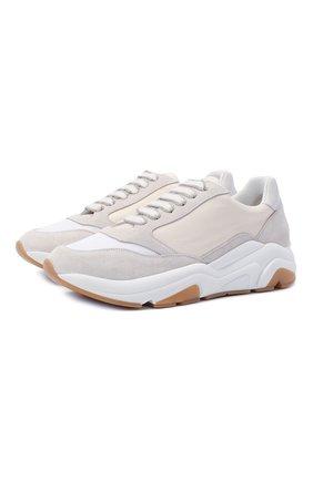 Женские кожаные кроссовки LORENA ANTONIAZZI белого цвета, арт. A2177SC001/425   Фото 1