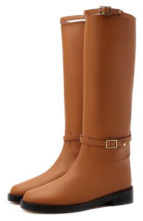 Женские кожаные сапоги LORENA ANTONIAZZI бежевого цвета, арт. A2186SC008/380   Фото 1