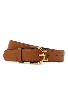 Женский кожаный ремень COCCINELLE коричневого цвета, арт. E3 IZ5 11 36 01   Фото 1