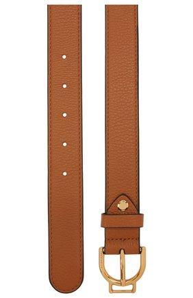 Женский кожаный ремень COCCINELLE коричневого цвета, арт. E3 IZ5 11 36 01   Фото 2