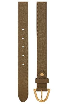Женский кожаный ремень COCCINELLE хаки цвета, арт. E3 IZ5 11 56 07   Фото 2
