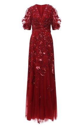 Женское платье ZUHAIR MURAD красного цвета, арт. DRS21002/EMJA001 | Фото 1