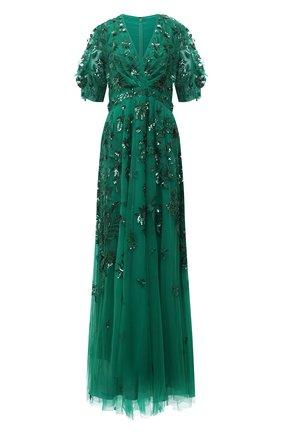 Женское платье ZUHAIR MURAD зеленого цвета, арт. DRS21002/EMJA001 | Фото 1