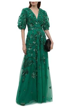 Женское платье ZUHAIR MURAD зеленого цвета, арт. DRS21002/EMJA001 | Фото 2
