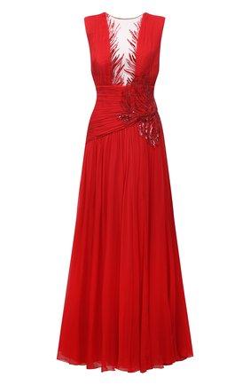 Женское платье ZUHAIR MURAD красного цвета, арт. DRS21038/CHSI020 | Фото 1