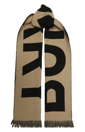 Женский шерстяной шарф BURBERRY бежевого цвета, арт. 8035525   Фото 1