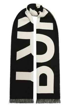 Женский шерстяной шарф BURBERRY черно-белого цвета, арт. 8035524 | Фото 1