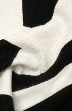 Женский шерстяной шарф BURBERRY черно-белого цвета, арт. 8035524 | Фото 2