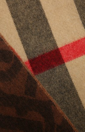 Женский кашемировый шарф BURBERRY коричневого цвета, арт. 8043734 | Фото 2