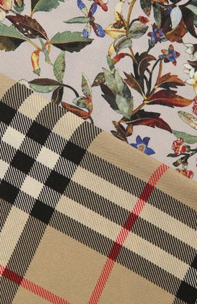 Женский шелковый платок BURBERRY бежевого цвета, арт. 8043353 | Фото 2