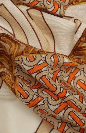 Женская кашемировая шаль BURBERRY бежевого цвета, арт. 8043164 | Фото 2