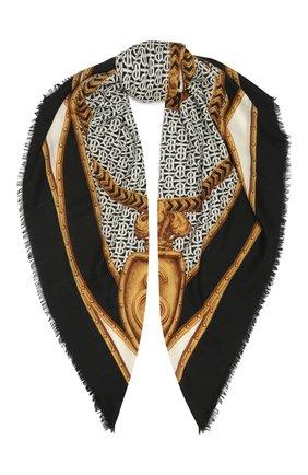 Женская кашемировая шаль BURBERRY серого цвета, арт. 8043163 | Фото 1