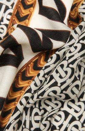 Женская кашемировая шаль BURBERRY серого цвета, арт. 8043163 | Фото 2