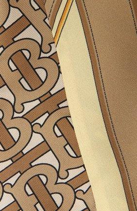 Женский шелковый шарф BURBERRY бежевого цвета, арт. 8042630 | Фото 2