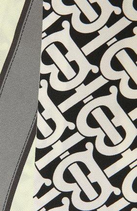 Женский шелковый шарф BURBERRY черно-белого цвета, арт. 8042629 | Фото 2