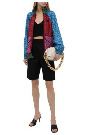 Женский шелковый бомбер GUCCI красного цвета, арт. 660265/XJDJJ | Фото 2 (Длина (верхняя одежда): Короткие; Материал внешний: Шелк; Рукава: Длинные; Кросс-КТ: Куртка, бомбер; Стили: Спорт-шик)