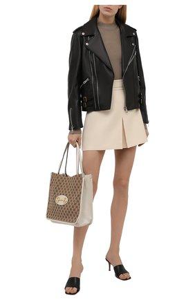Женская кожаная куртка GUCCI черного цвета, арт. 629189/XN336 | Фото 2