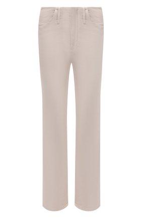 Женские джинсы BRUNELLO CUCINELLI светло-бежевого цвета, арт. MB030P5674 | Фото 1 (Материал внешний: Хлопок; Длина (брюки, джинсы): Стандартные; Стили: Кэжуэл; Силуэт Ж (брюки и джинсы): Прямые; Кросс-КТ: Деним)