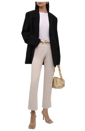 Женские джинсы BRUNELLO CUCINELLI светло-бежевого цвета, арт. MB030P5674 | Фото 2 (Материал внешний: Хлопок; Длина (брюки, джинсы): Стандартные; Стили: Кэжуэл; Силуэт Ж (брюки и джинсы): Прямые; Кросс-КТ: Деним)