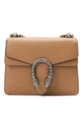 Женская сумка dionysus mini GUCCI бежевого цвета, арт. 421970/CA0GN   Фото 1 (Материал: Натуральная кожа; Сумки-технические: Сумки через плечо; Ремень/цепочка: С цепочкой, На ремешке; Размер: mini)