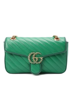 Женская сумка gg marmont 2.0 GUCCI зеленого цвета, арт. 443497/1X5EG   Фото 1