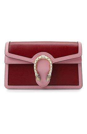 Женская сумка supermini GUCCI бордового цвета, арт. 476432/18YQX   Фото 1