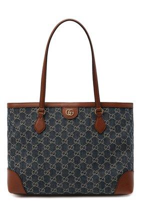 Женский сумка-шопер ophidia GUCCI синего цвета, арт. 631685/2KQGG   Фото 1