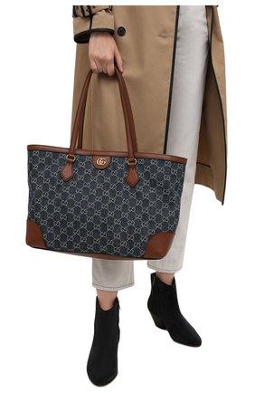Женский сумка-шопер ophidia GUCCI синего цвета, арт. 631685/2KQGG   Фото 2