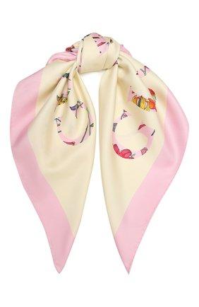 Женский шелковый платок GUCCI разноцветного цвета, арт. 663683/3G001 | Фото 1