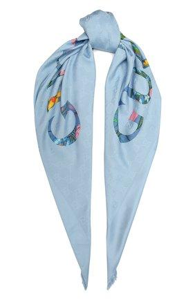Женская шаль GUCCI синего цвета, арт. 663676/3GACU | Фото 1