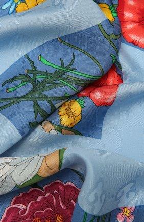 Женская шаль GUCCI синего цвета, арт. 663676/3GACU | Фото 2