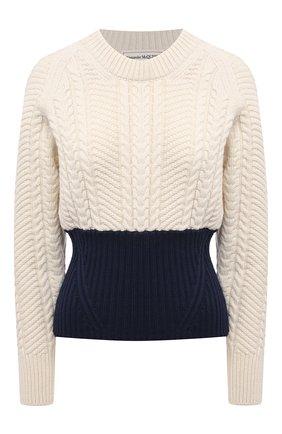 Женский свитер из шерсти и кашемира ALEXANDER MCQUEEN разноцветного цвета, арт. 667783/Q1AVD | Фото 1
