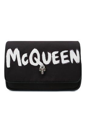 Женская сумка skull ALEXANDER MCQUEEN черного цвета, арт. 666120/16XAB | Фото 1 (Ремень/цепочка: На ремешке; Размер: mini; Сумки-технические: Сумки через плечо; Материал: Текстиль)