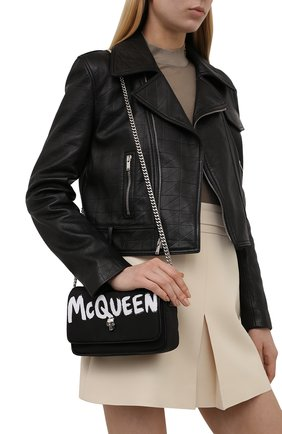 Женская сумка skull ALEXANDER MCQUEEN черного цвета, арт. 666120/16XAB | Фото 2