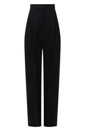 Женские брюки из шерсти и шелка ALEXANDER MCQUEEN черного цвета, арт. 663866/QJAAA | Фото 1