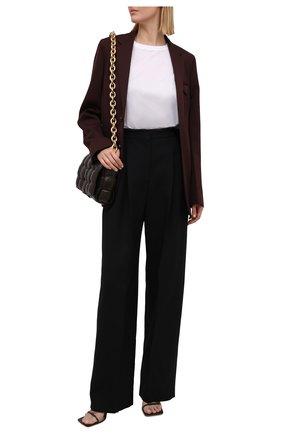 Женские брюки из шерсти и шелка ALEXANDER MCQUEEN черного цвета, арт. 663866/QJAAA | Фото 2