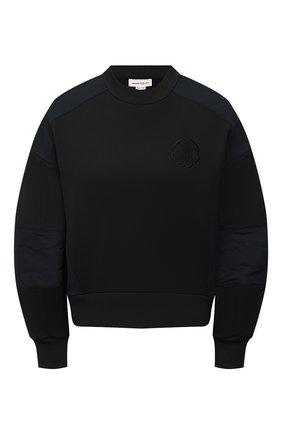 Женский хлопковый свитшот ALEXANDER MCQUEEN черного цвета, арт. 662637/QLABG | Фото 1