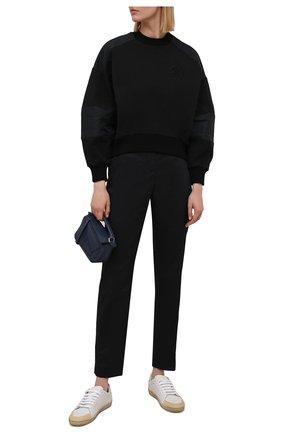 Женский хлопковый свитшот ALEXANDER MCQUEEN черного цвета, арт. 662637/QLABG | Фото 2