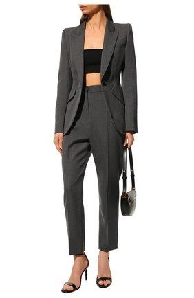 Женский шерстяной жакет ALEXANDER MCQUEEN серого цвета, арт. 585442/QJACH | Фото 2