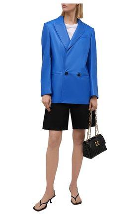 Женский кожаный жакет ALEXANDER MCQUEEN синего цвета, арт. 668435/Q5AGG | Фото 2