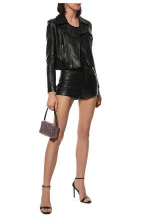 Женская кожаная куртка SAINT LAURENT черного цвета, арт. 653138/YCEN2 | Фото 2