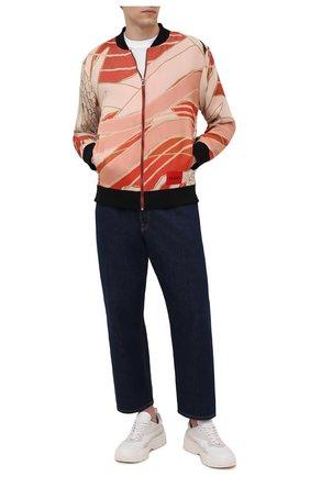 Мужской бомбер HUGO оранжевого цвета, арт. 50448811 | Фото 2