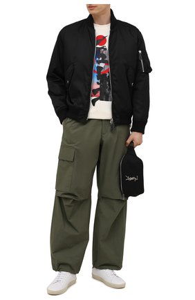 Мужская хлопковая футболка HUGO кремвого цвета, арт. 50448940 | Фото 2