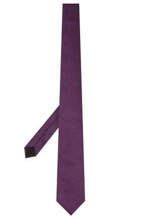 Мужской шелковый галстук BOSS фиолетового цвета, арт. 50461264 | Фото 2 (Материал: Текстиль, Шелк; Принт: С принтом)