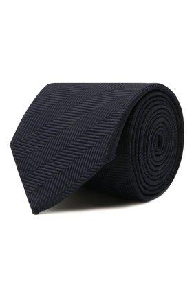 Мужской шелковый галстук BOSS темно-синего цвета, арт. 50461195 | Фото 1