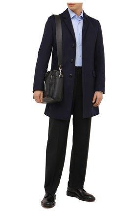 Мужской пальто из шерсти и кашемира HUGO темно-синего цвета, арт. 50456693 | Фото 2
