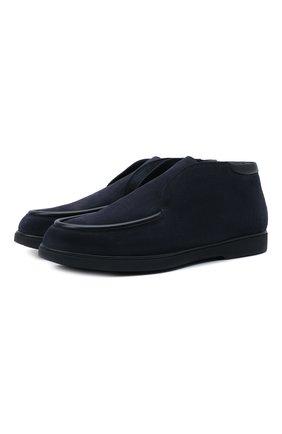 Мужские замшевые ботинки W.GIBBS синего цвета, арт. 1078003/2567 | Фото 1