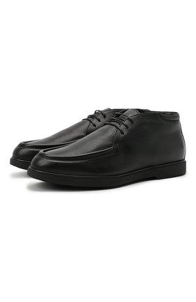 Мужские кожаные ботинки W.GIBBS черного цвета, арт. 1078004/2520 | Фото 1