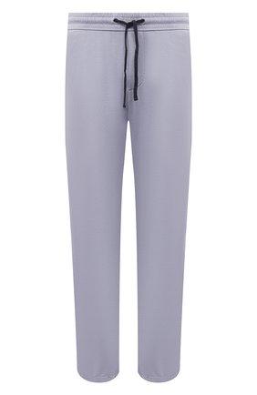 Мужские хлопковые брюки JAMES PERSE голубого цвета, арт. MXA1161 | Фото 1 (Материал внешний: Хлопок; Длина (брюки, джинсы): Стандартные; Мужское Кросс-КТ: Брюки-трикотаж; Стили: Спорт-шик; Кросс-КТ: Спорт)